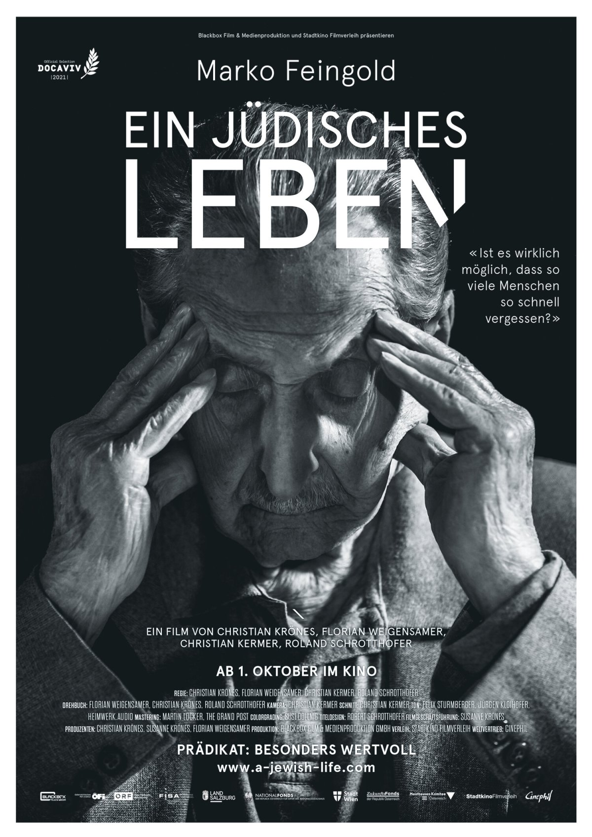 Filmpremiere: Marko Feingold – Ein jüdischesLeben